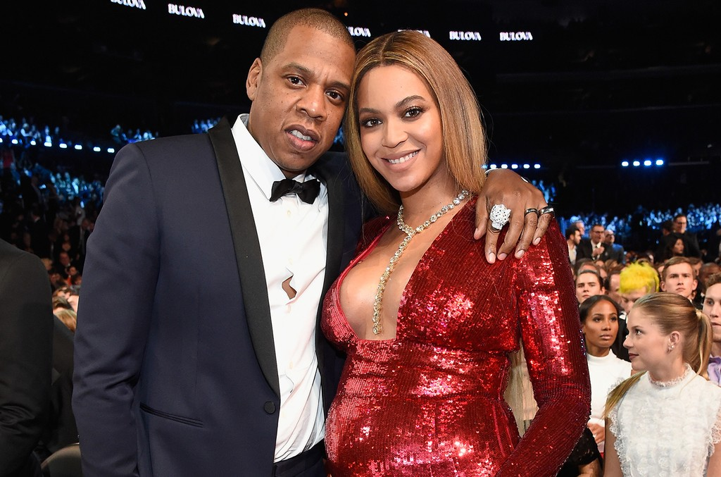 Jay Z and Beyonce during The 59th Grammy Awards at Staples Center on Feb. 12, 2017 in Los Angeles.