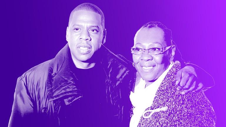 <p>Jay-Z and Gloria Carter</p>
