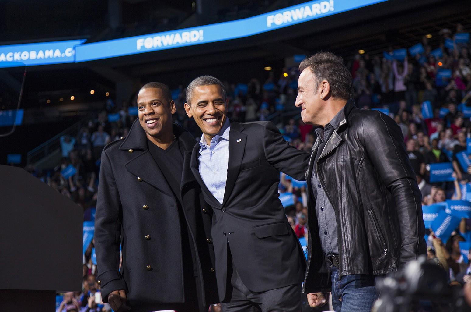 Barack Obama jay z bruce springsteen