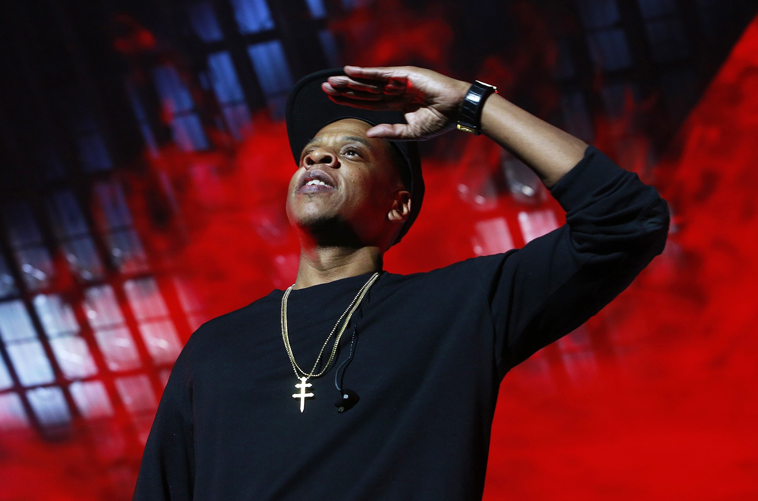 Jay Z performs at the Tidal X: 1020 Amplified by HTC concert at the Barclays Center on Oct. 20, 2015 in New York City.