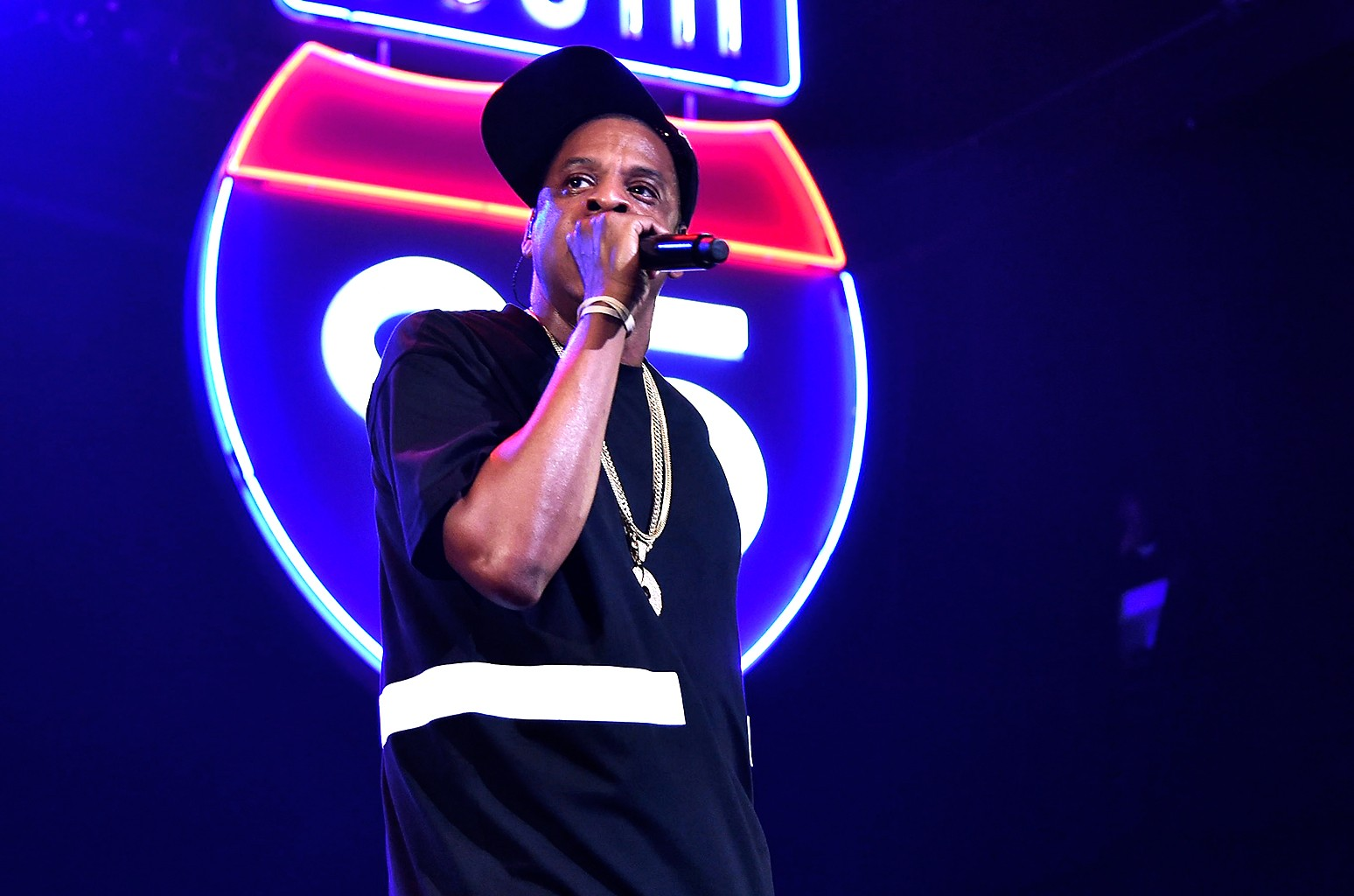 Jay Z performs during TIDAL X: Jay-Z B-sides in NYC on May 16, 2015 in New York City.