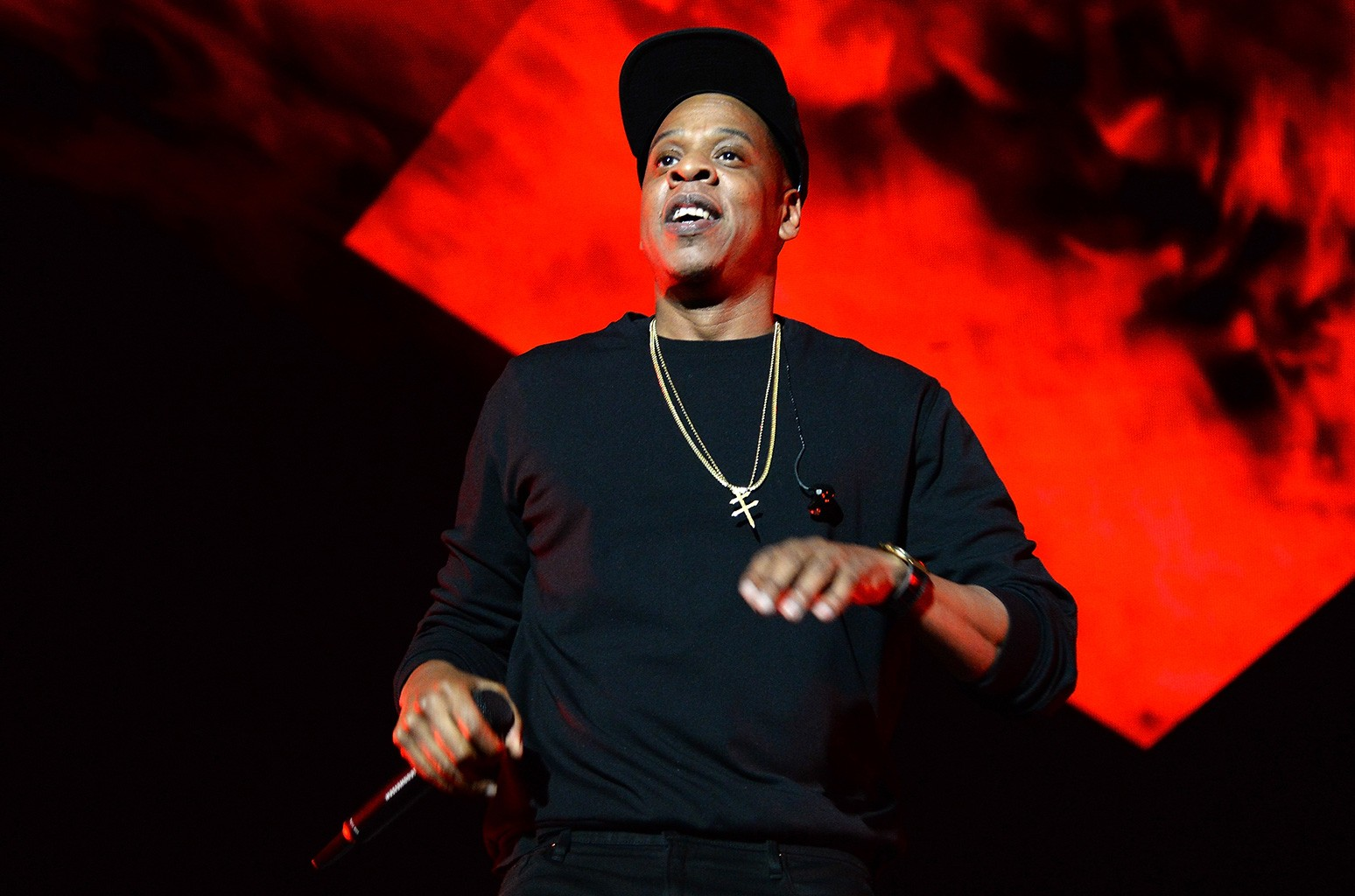 Jay-Z performs onstage during TIDAL X: 1020 Amplified by HTC at Barclays Center of Brooklyn on Oct. 20, 2015 in New York City.
