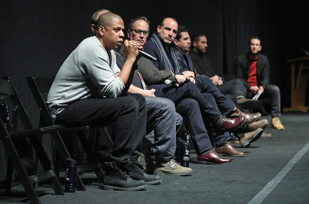 Jay Z Carter speaks at The Marc Theatre during Sundance Film Festival on Jan. 25, 2017 in Park City, Utah.
