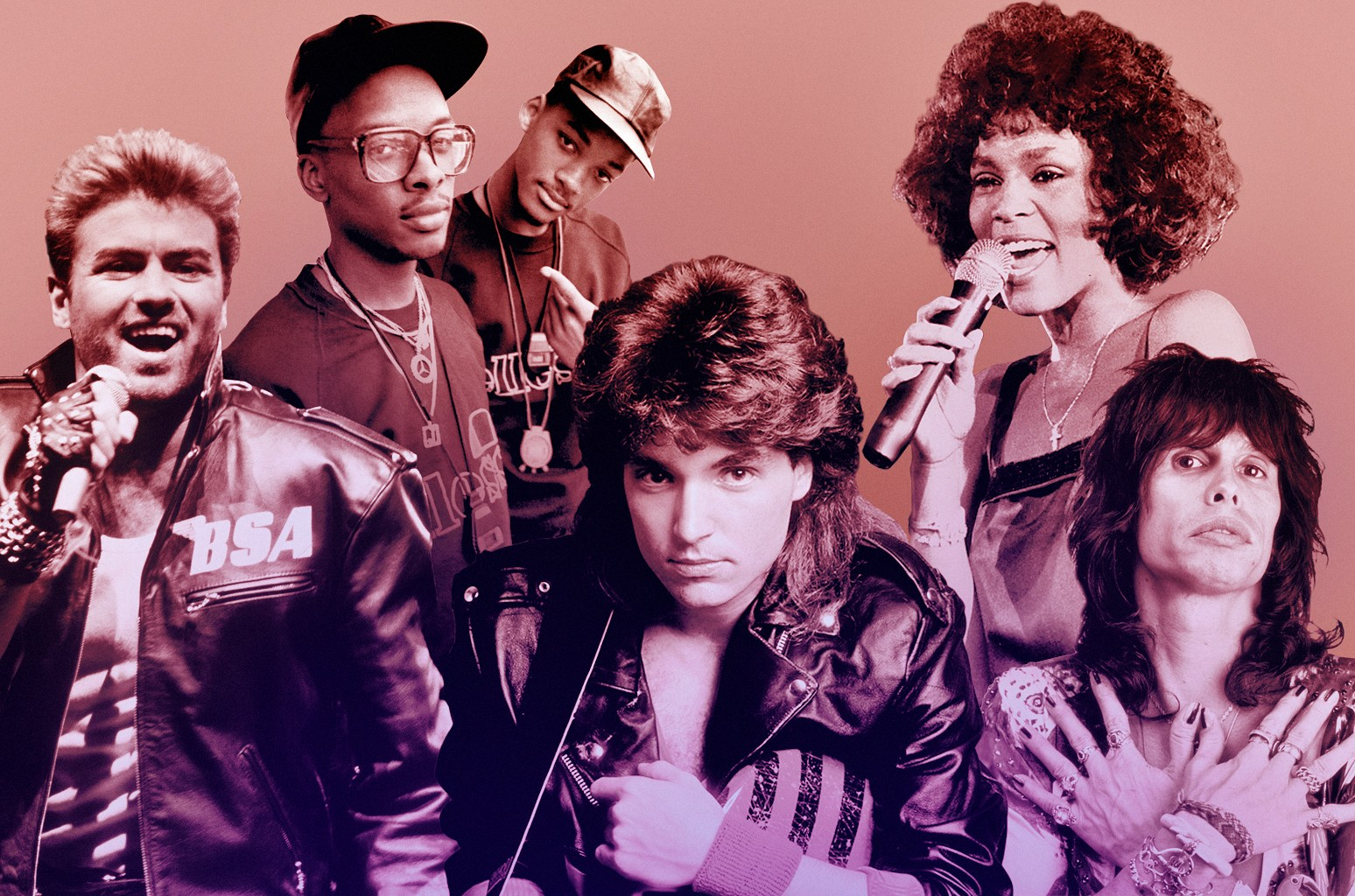 George Michael, DJ Jazzy Jeff and Will Smith, Richard Marx, Whitney Houston & Steven Tyler
