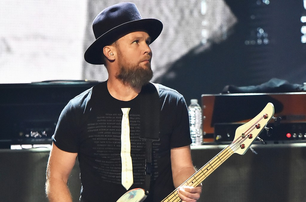 Inductee Jeff Ament of Pearl Jam performs onstage at the 32nd Annual Rock & Roll Hall Of Fame Induction Ceremony at Barclays Center on April 7, 2017 in New York City.