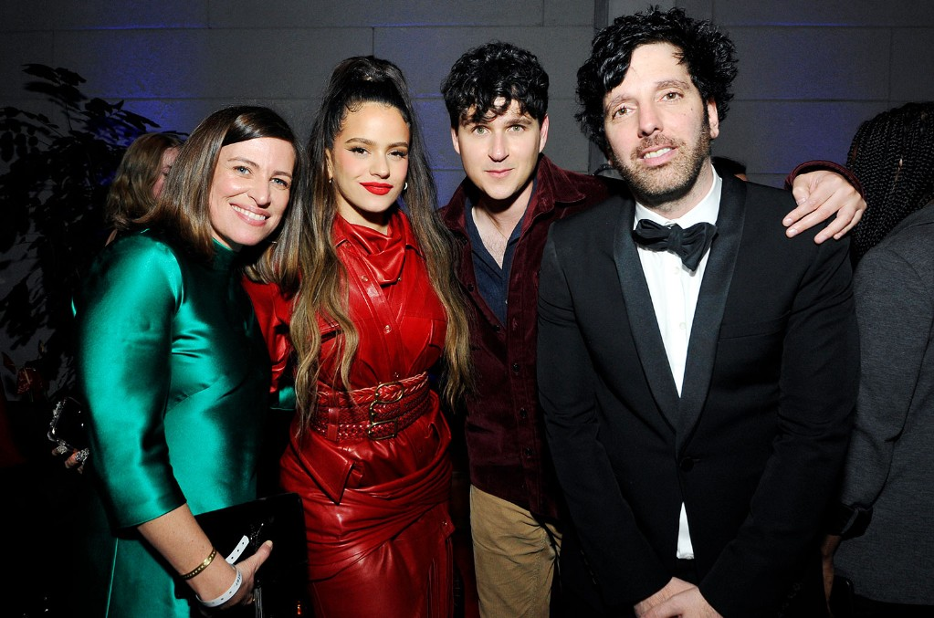 Jenifer Mallory, Rosalía, Ezra Koenig of Vampire Weekend, and Ron Perry