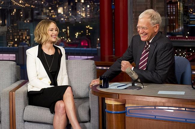 Jennifer Lawrence and David Letterman