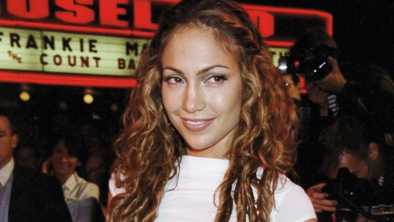 <p>Lopez at her debut-album release party in 1999.</p>