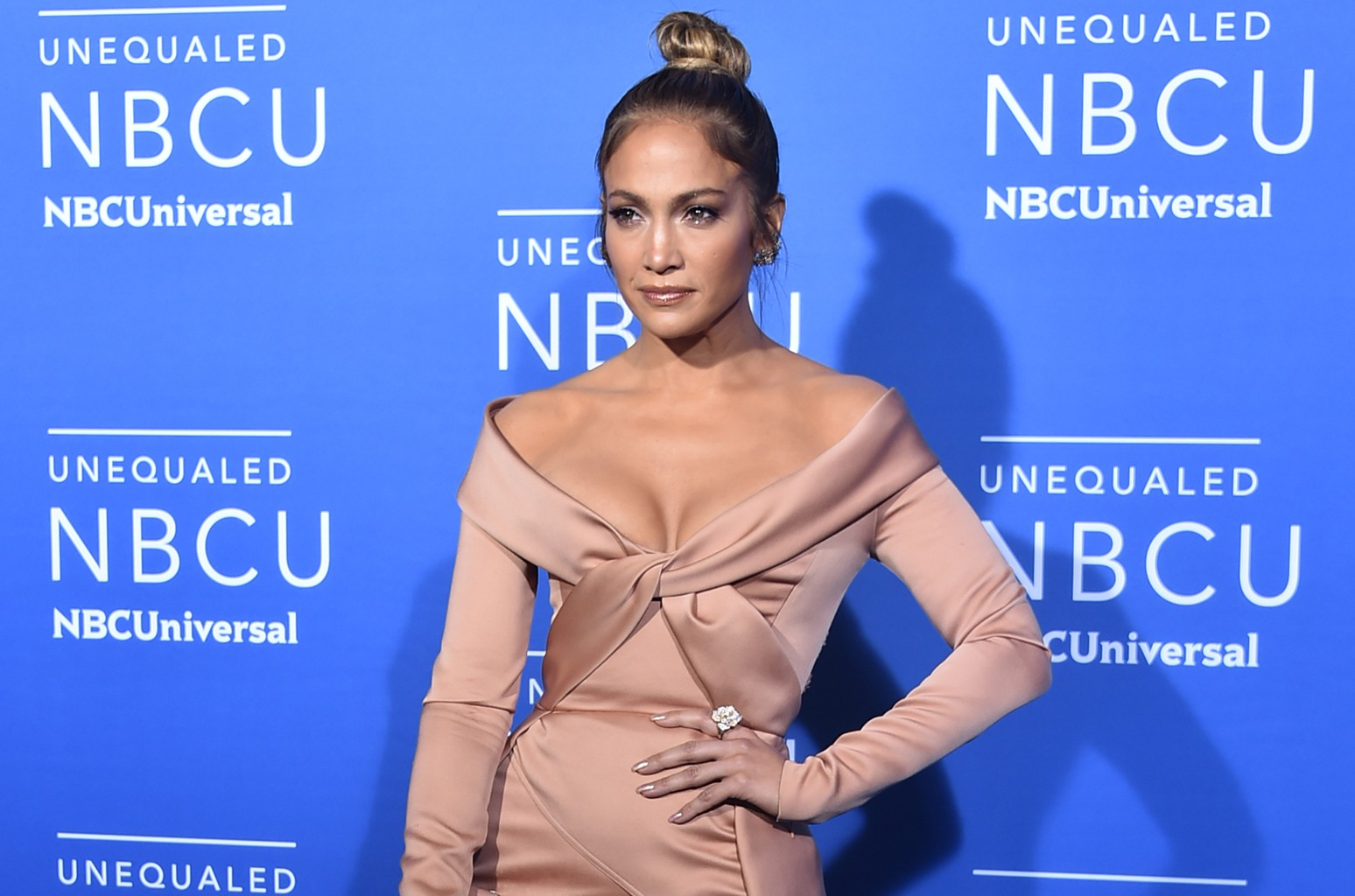 Jennifer Lopez at the 2017 NBCUniversal Upfront in New York City on May 15, 2017.