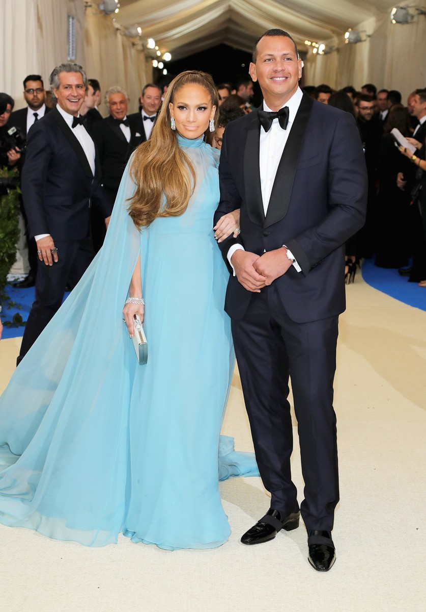 "Jennifer Lopez and Alex Rodriguez attend the ""Rei Kawakubo/Comme des Garcons: Art Of The In-Between"" Costume Institute Gala at Metropolitan Museum of Art on May 1, 2017 in New York City."