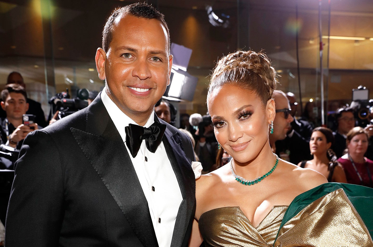 Alex Rodriguez and Jennifer Lopez, Golden Globe Awards