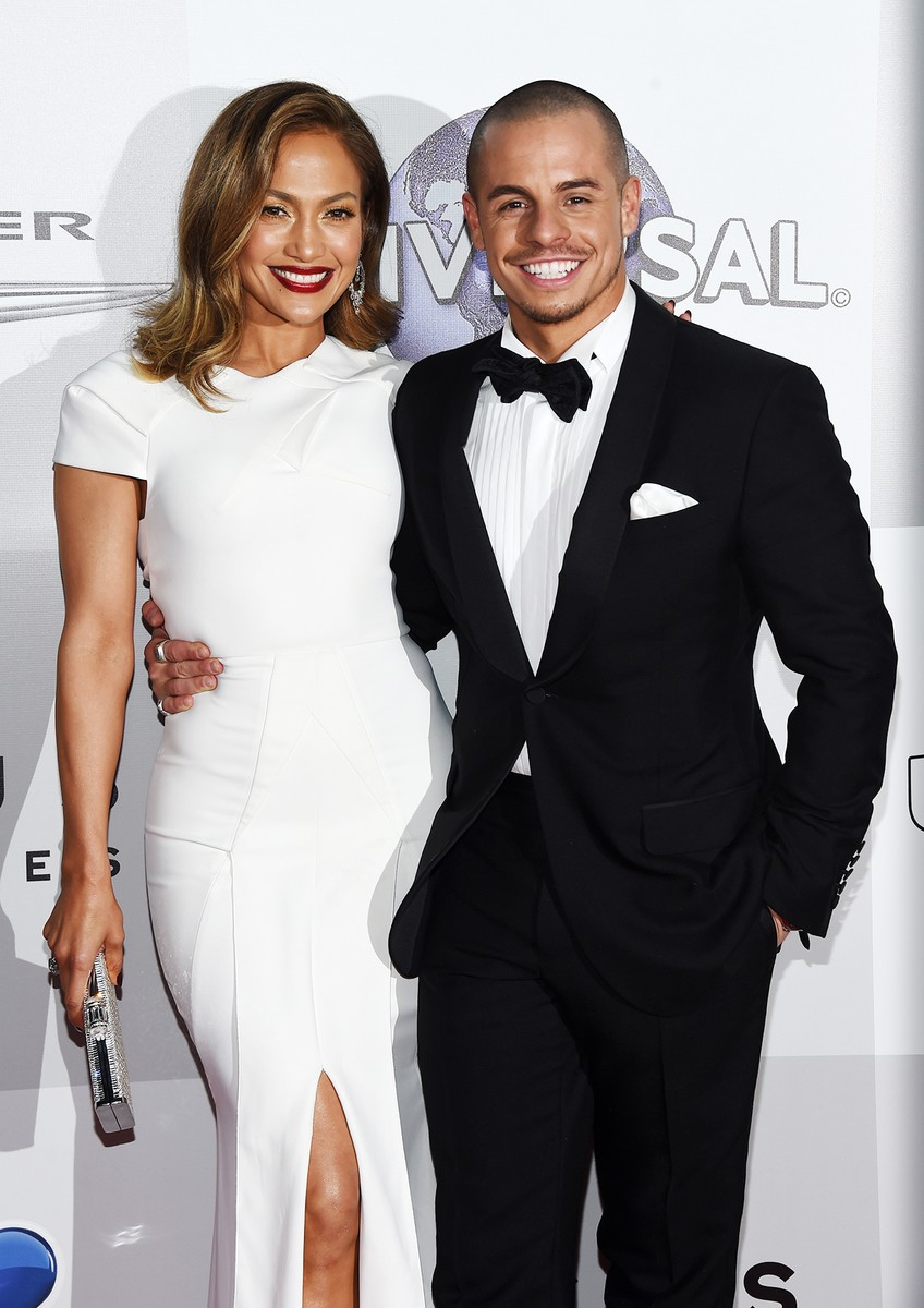 Jennifer Lopez and Casper Smart arrive at NBCUniversal's 73rd Annual Golden Globes After Party at The Beverly Hilton Hotel on Jan. 10, 2016 in Beverly Hills, Calif.