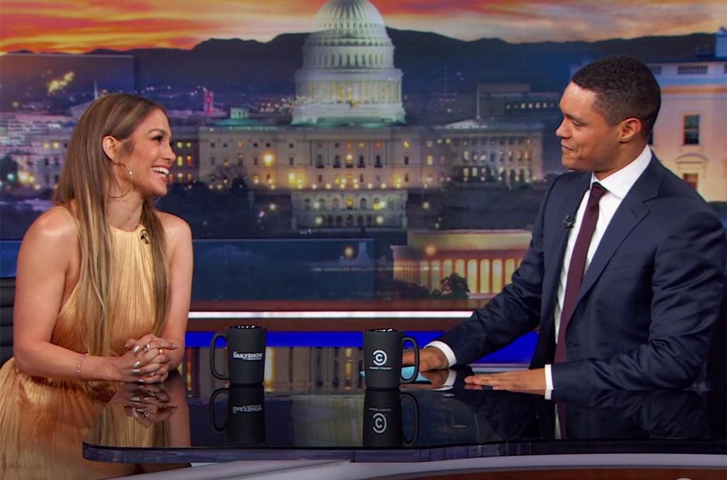 Jennifer Lopez on The Daily Show with Trevor Noah.