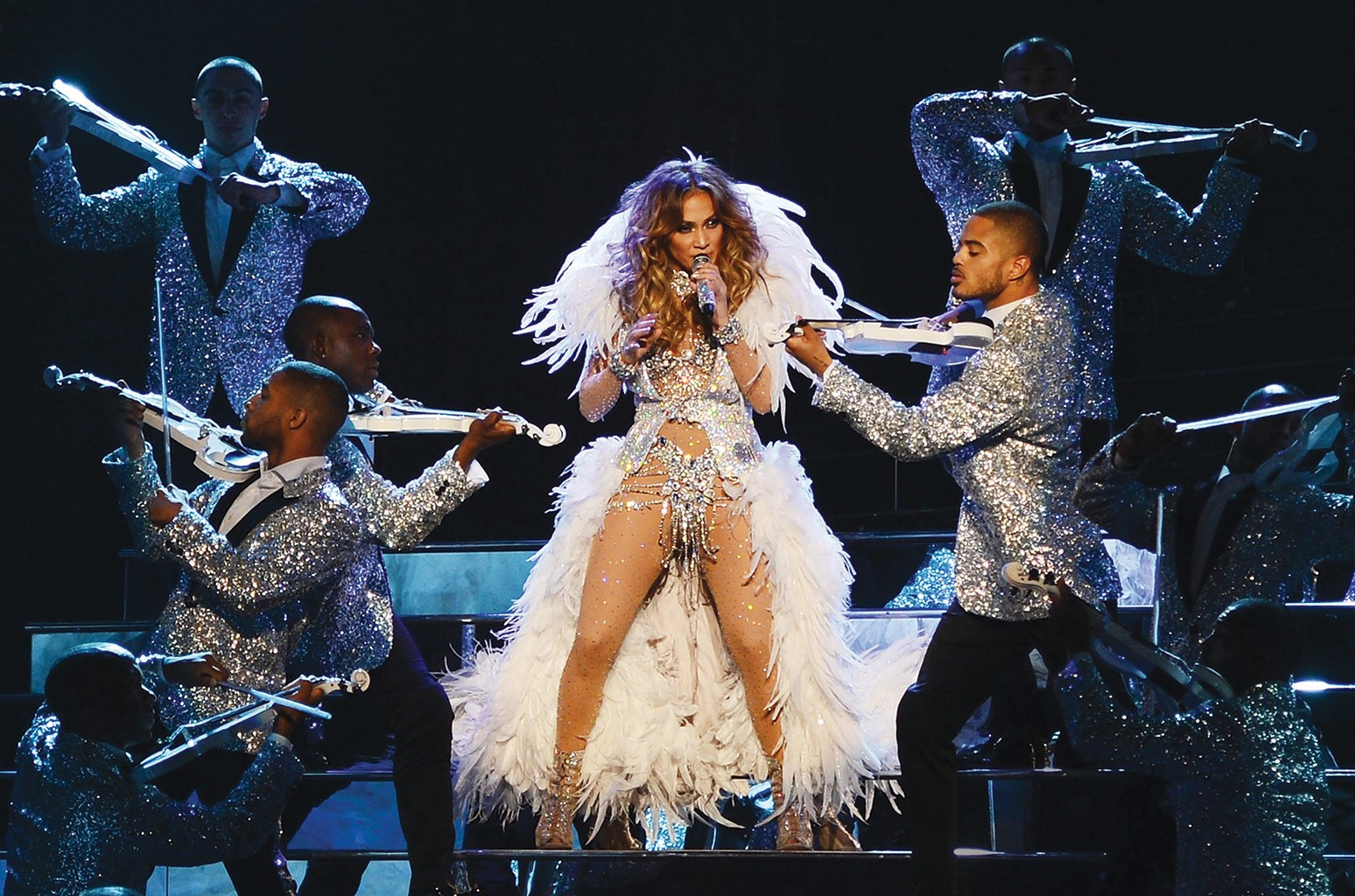 Jennifer Lopez performs during the debut of her residency show JENNIFER LOPEZ: ALL I HAVE at Planet Hollywood Resort & Casino on Jan. 20, 2016 in Las Vegas.