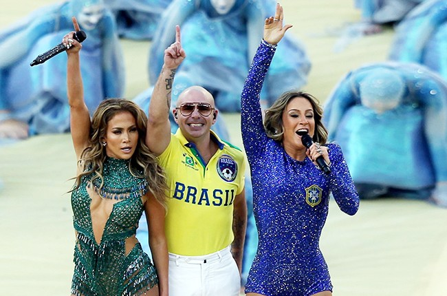 Jennifer Lopez, Pitbull and Claudia Leitte perform at World Cup 2014 opening ceremony