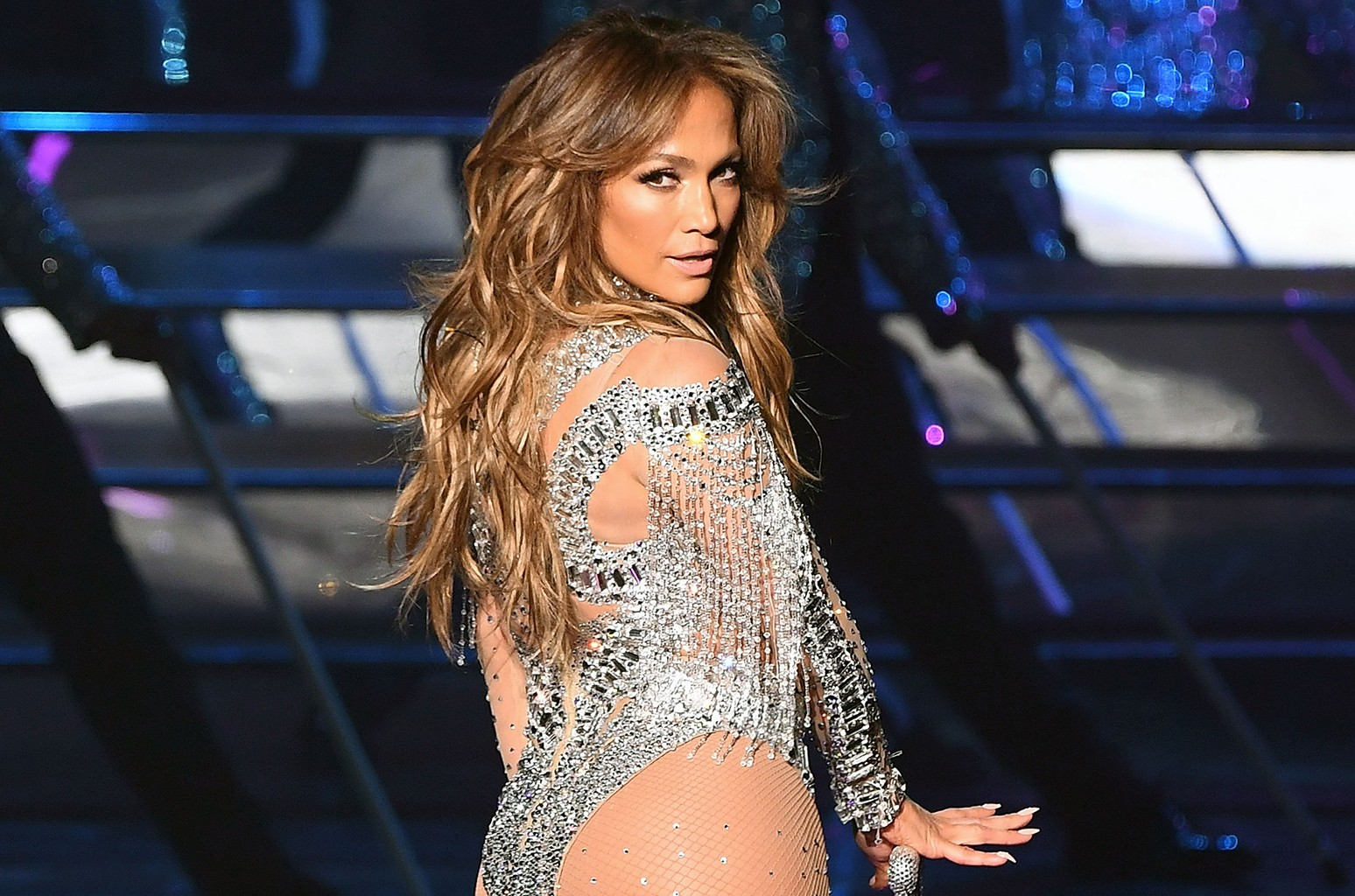 Jennifer Lopez performs in Las Vegas