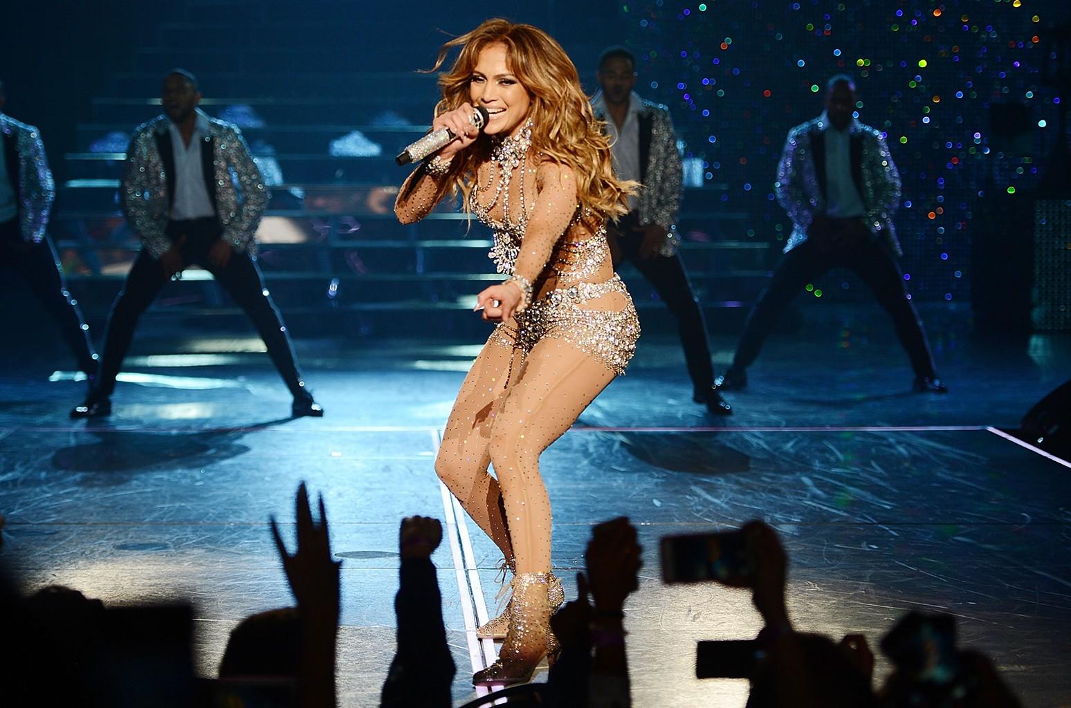 Jennifer Lopez performs in Las Vegas