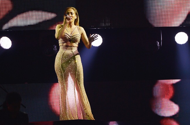 Jennifer Lopez performs musical tribute to Selena performs onstage at the 2015 Billboard Latin Music Awards