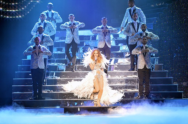Jennifer Lopez on the opening night of her All I Have Las Vegas residency
