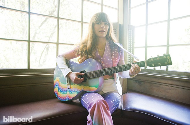 Jenny Lewis at her home in Los Angeles