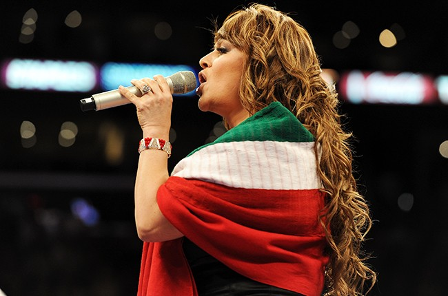 Jenny Rivera sings the Mexican national anthem  2010