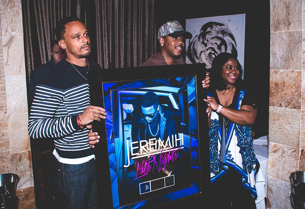 Jeremih poses for a photo during the Gold plaque presentation dinner for Late Nights