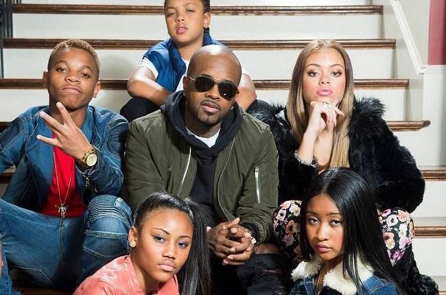"Jermaine Dupri with ""The Rap Game"" contestants"