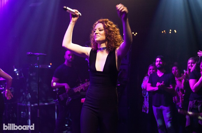 Jess Glynne performing at the MasterCard Billboard concert at The Sayers Club on Feb. 9, 2016.
