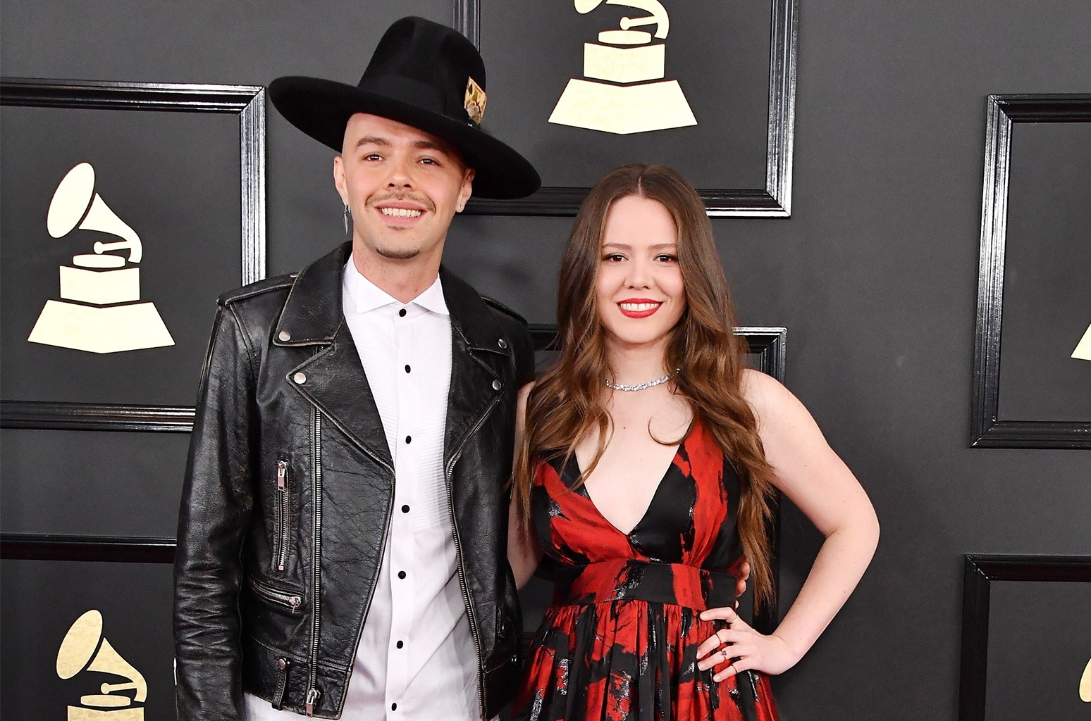 Jesse Huerta (L) and Joy Huerta of Jesse & Joy attend The 59th Grammy Awards at Staples Center on Feb. 12, 2017 in Los Angeles.