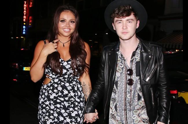 Little Mix's Jesy Nelson and Rixton's Jake Roche in London on July 13, 2015.