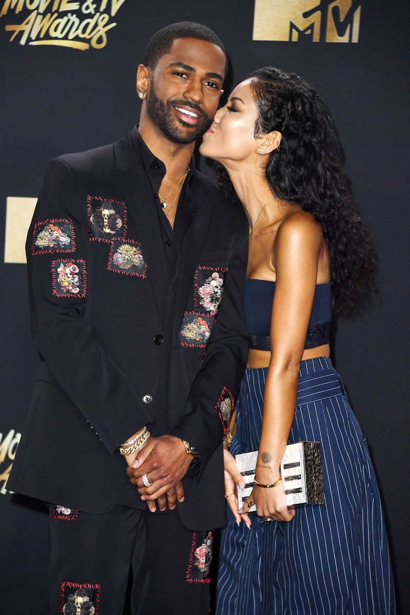 Big Sean and Jhene Aiko attend the 2017 MTV Movie and TV Awards at The Shrine Auditorium on May 7, 2017 in Los Angeles.