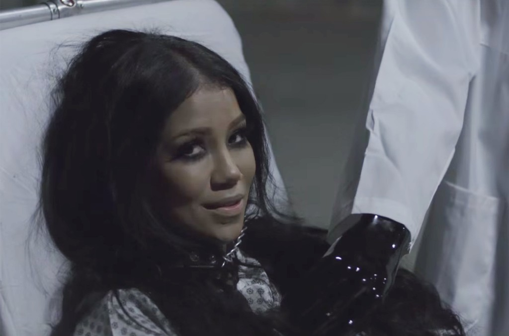 Jhené Aiko in the video for Maniac.