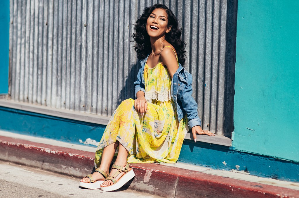 Jhene Aiko models her new collaboration with Teva footwear