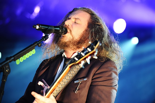 Jim James and the band My Morning Jacket  perform during CBGB Music & Film Festival 2013