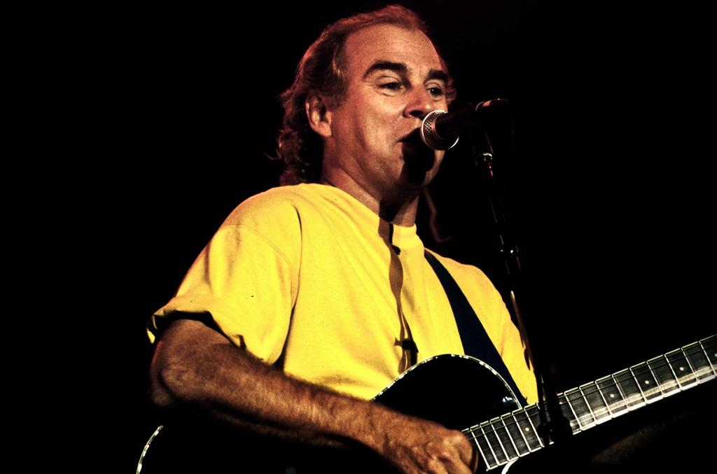 Jimmy Buffett performs on Oct. 12, 1993 in Los Angeles.