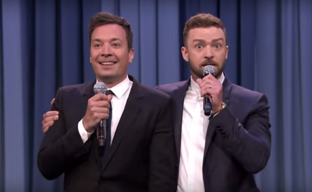 Jimmy Fallon and Justin Timberlake perform a History of Rap 6