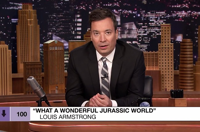 """Jimmy Fallon plays songs from the """"Bottom of the Charts"""" on The Tonight Show Starring Jimmy Fallon on June 24, 2015."""