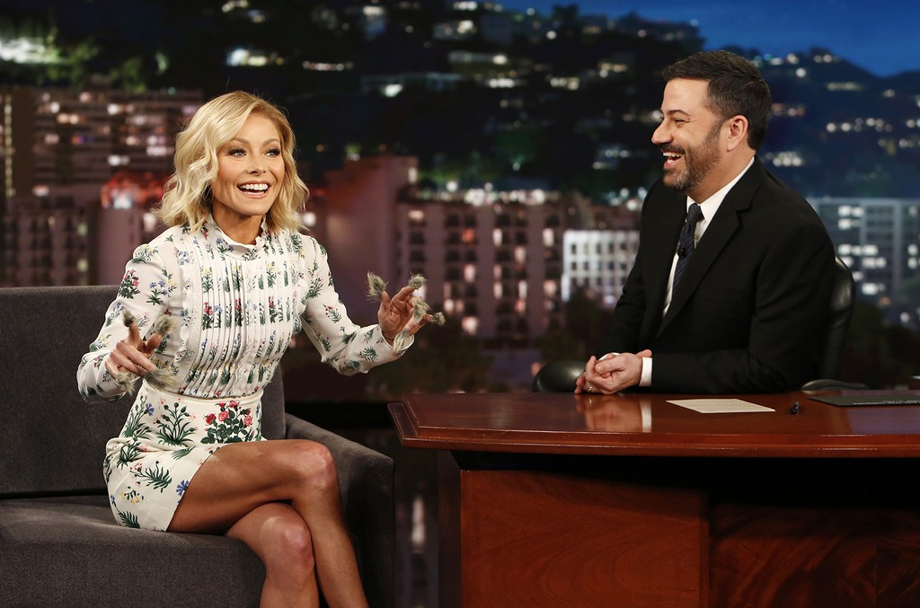 Kelly Ripa and Jimmy Kimmel  2016