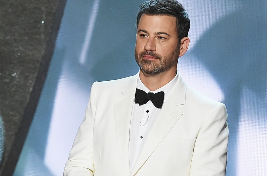 Jimmy Kimmel speaks onstage during the 68th Annual Primetime Emmy Awards at Microsoft Theater on Sept. 18, 2016 in Los Angeles.