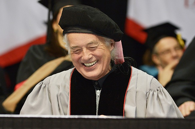 Jimmy Page receives an Honorary Doctor of Music Degree from Berklee College of Music