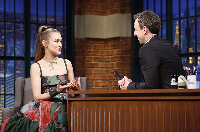 Joanna Newsom Late Show Seth Meyers 2016