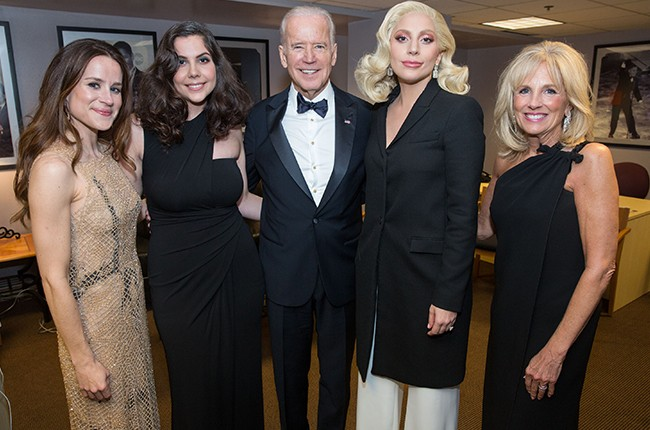 Joe Biden Lady Gaga Academy Awards 2016