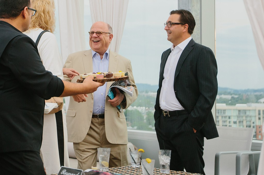 Joel Katz and John Amato attend the 2017 Billboard Country Power Players reception at The Westin Hotel Rooftop on Aug. 1, 2017 in Nashville, Tenn.
