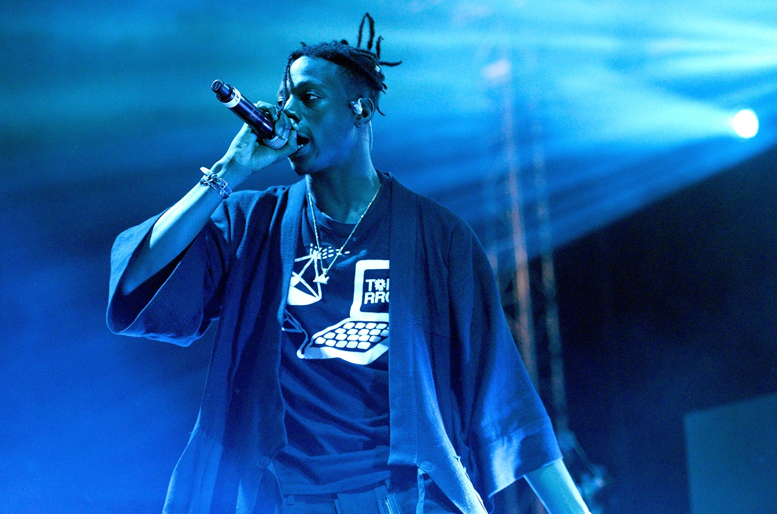 Joey Bada$$ performs during the Smokers Club 420 event at The Observatory on April 20, 2017 in Santa Ana, Calif.