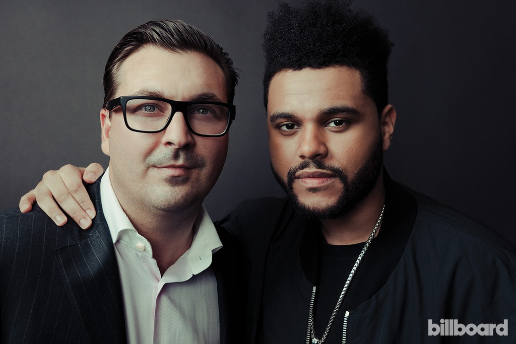 John Amato and The Weeknd photographed on Feb. 9 at Billboard Power 100 in West Hollywood, Calif.
