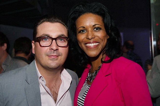 John Amato with Carolyn Jackman at the Billboard 2014 Latin Music Conference 25th Anniversary Concert