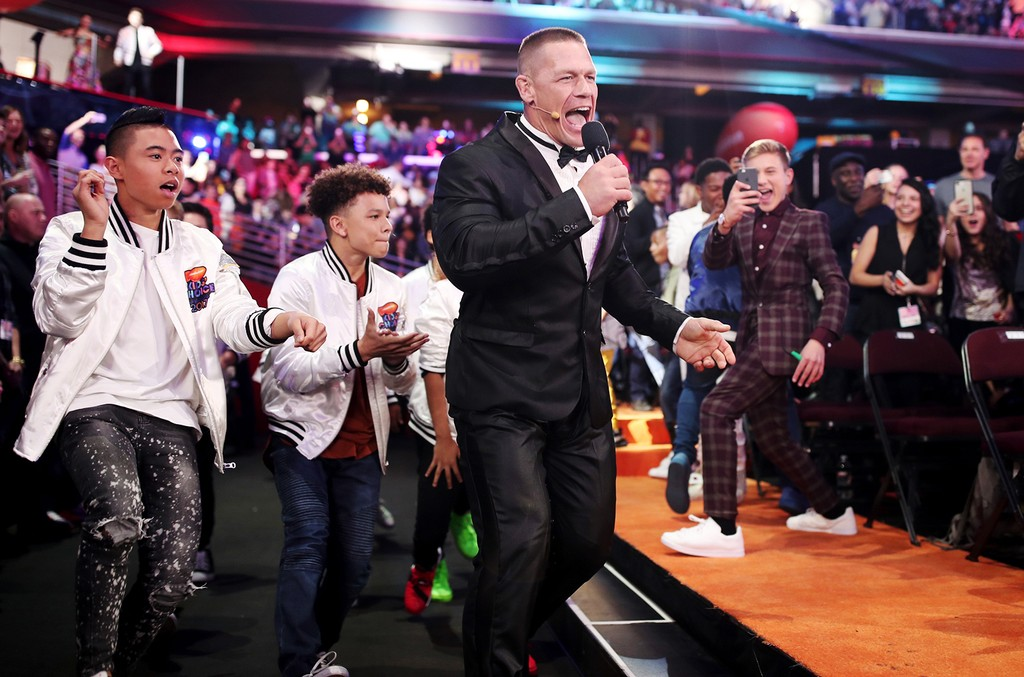 John Cena enters the Nickelodeon's 2017 Kids' Choice Awards at USC Galen Center on March 11, 2017 in Los Angeles.
