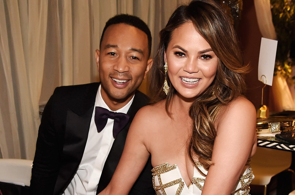 John Legend and Chrissy Teigen attend the 2017 Tony Awards at Radio City Music Hall on June 11, 2017 in New York City.
