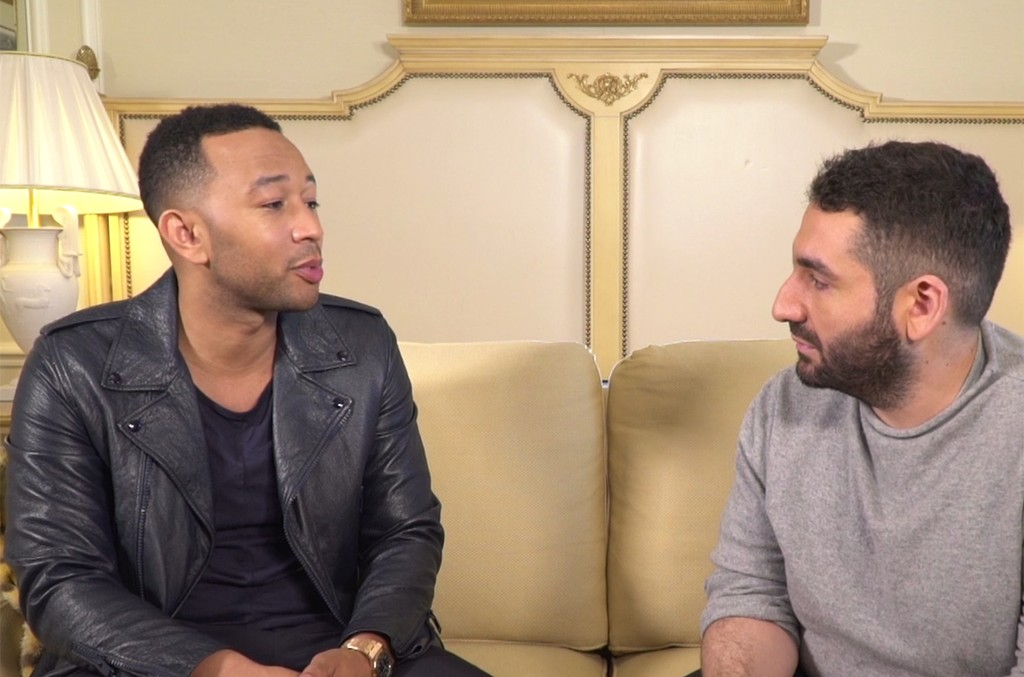 John Legend during an interview with Clique.TV.