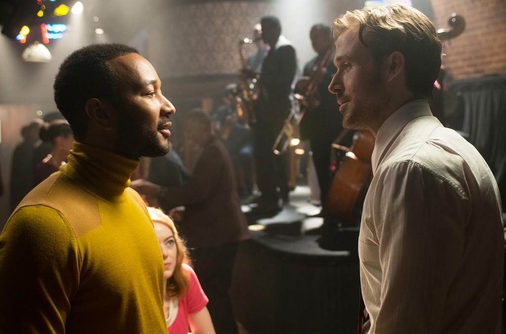 John Legend and Ryan Gosling in La La Land.